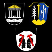 Wappen von Bad Alexandersbad, Nagel und Tröstau