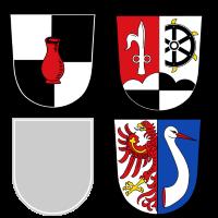 Wappen von Creußen, Haag, Prebitz (führt kein Wappen), Schnabelwaid
