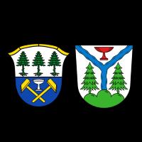 Wappen von Fichtelberg und Warmensteinach