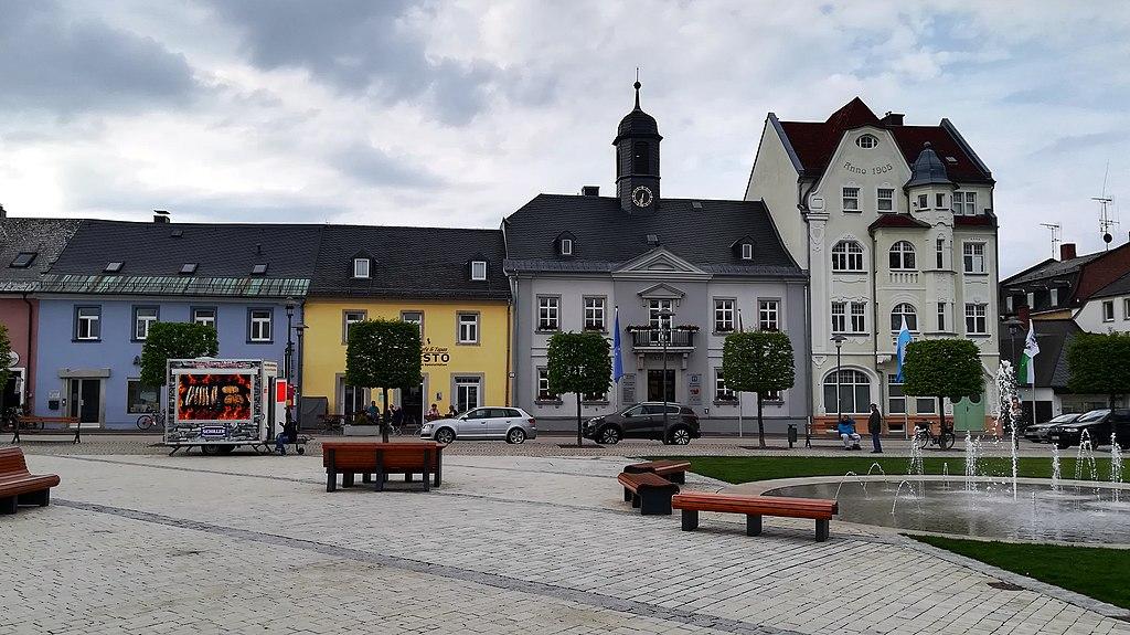 Maxplatz vor dem Alten Rathaus in Rehau