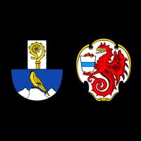 Wappen von Falkenberg und Wiesau